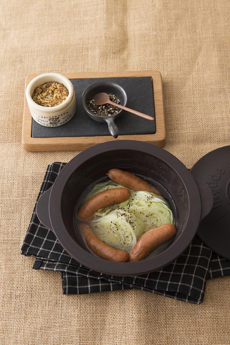 「レンチン小鍋」はそのまま器としても使える