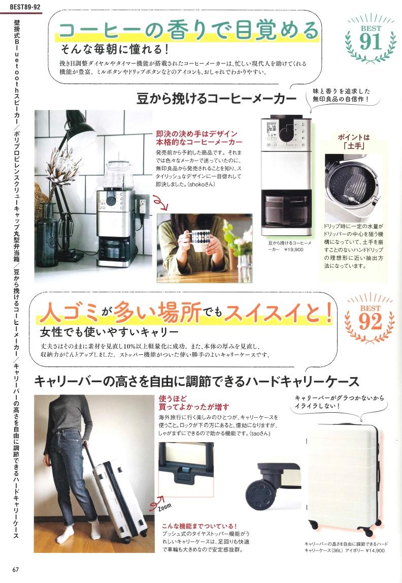 写真は、「無印良品 本当に売れている115アイテム」(宝島社)、67ページ