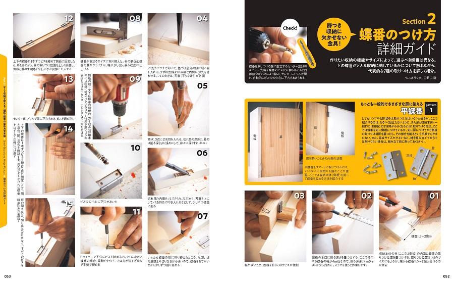 写真は、『DIY収納の作り方&アイデア』(学研プラス)の52,53ページ