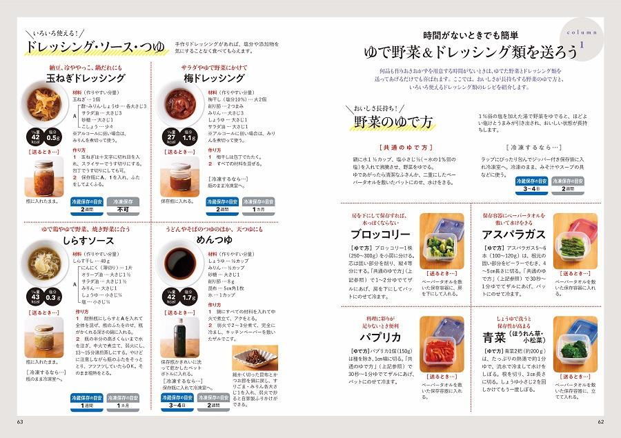 写真は、ゆで野菜・ドレッシングのページ/『親孝行レシピ 誰でもできる作りおき』(学研プラス)より