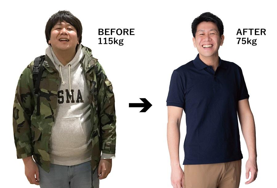 朽木さんの過去と現在の体型(提供:KADOKAWA)