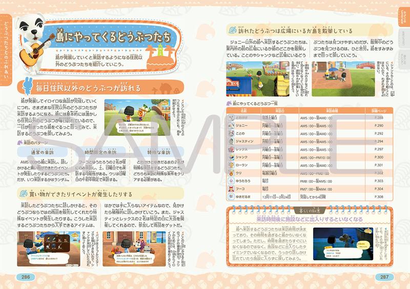 写真は、島にやってくるどうぶつの解説ページのサンプル(提供:KADOKAWA)
