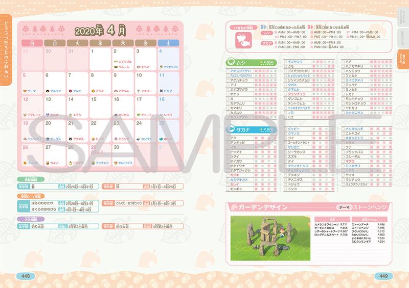 写真は、ムシ・サカナの出現時間帯などの解説ページ(提供:KADOKAWA)
