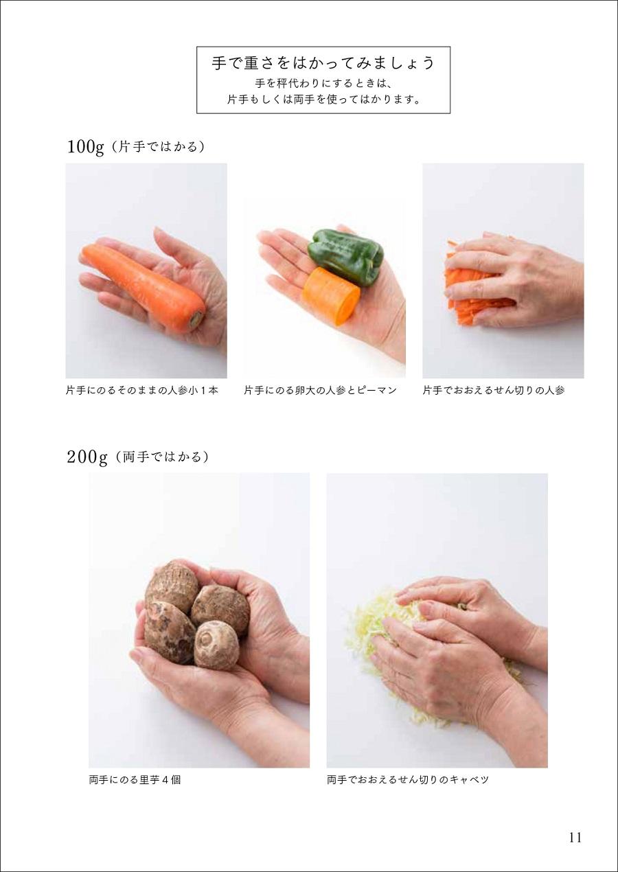 写真は、『「家庭料理の手ほどき帖」ー惠津子流料理のたねあかしー』(婦人之友社)の11ページ