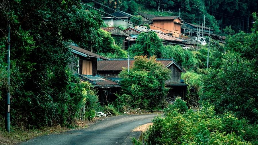 写真は、石井さんが暮らす山奥の集落(提供:光文社)