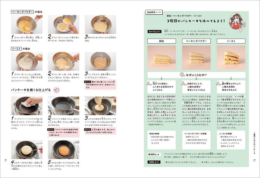 写真は、「自由研究ノート」のページ/『お菓子な自由研究』(学研プラス)より
