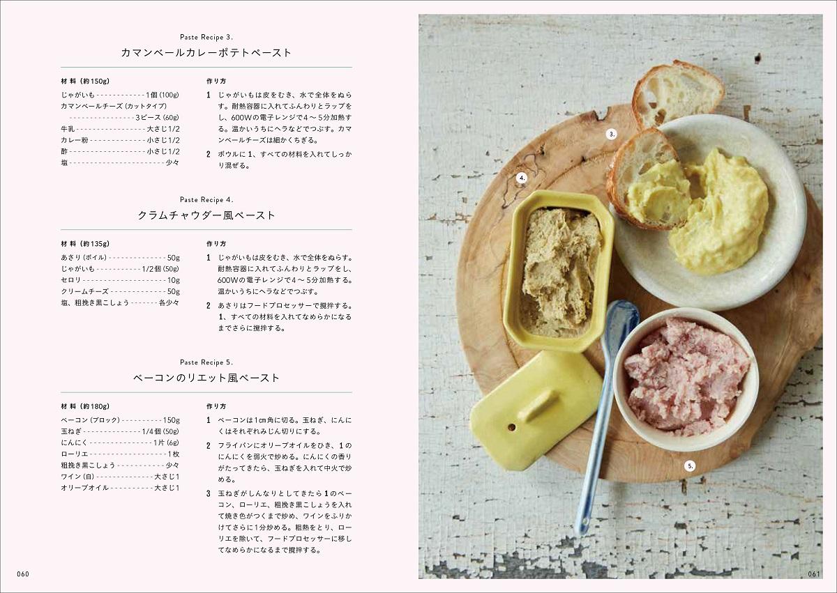 画像は、『野菜たっぷり具だくさんの主役サンド150』(誠文堂新光社)より。手作りペーストのページ
