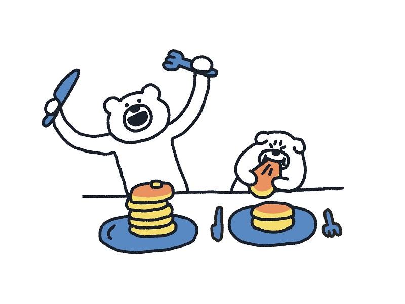(C)takadabear, TAKARAJIMASHA 2020 きつね色のホットケーキがつい食べたくなる。