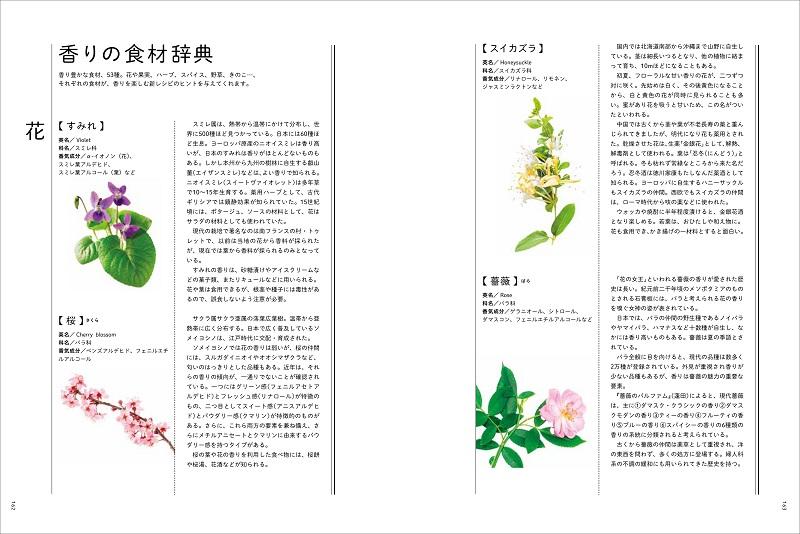 画像は、『料理に役立つ 香りと食材の組み立て方』(誠文堂新光社)より。50種以上の香りを網羅