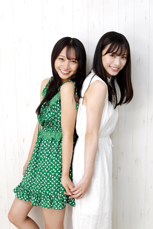 画像は、「B.L.T.2020年11月号」(東京ニュース通信社)より。NMB48の梅山恋和さんと山本彩加さん
