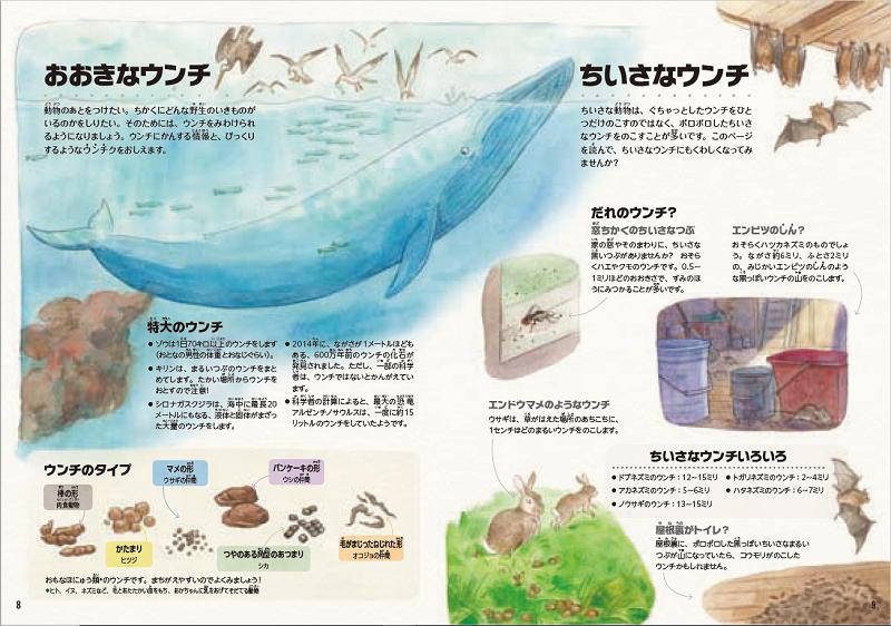 画像は、『ウンチでわかるいきもの図鑑』(NHK出版)より(以下、同じ)