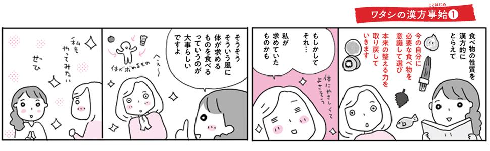 画像は、『季節と暮らす12カ月 漢方養生ダイアリー』(日本文芸社)より(以下、同)。イラストレーター森下えみこさんのコミックでわかりやすく紹介