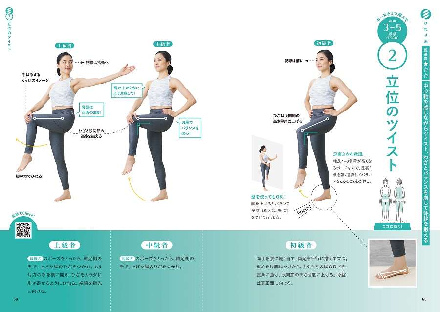 写真は、立位のツイスト(C)山谷夏未/リブレ