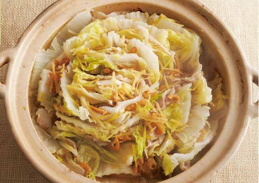 写真は、白菜と豚肉のミルフィーユ鍋(提供:主婦の友社)