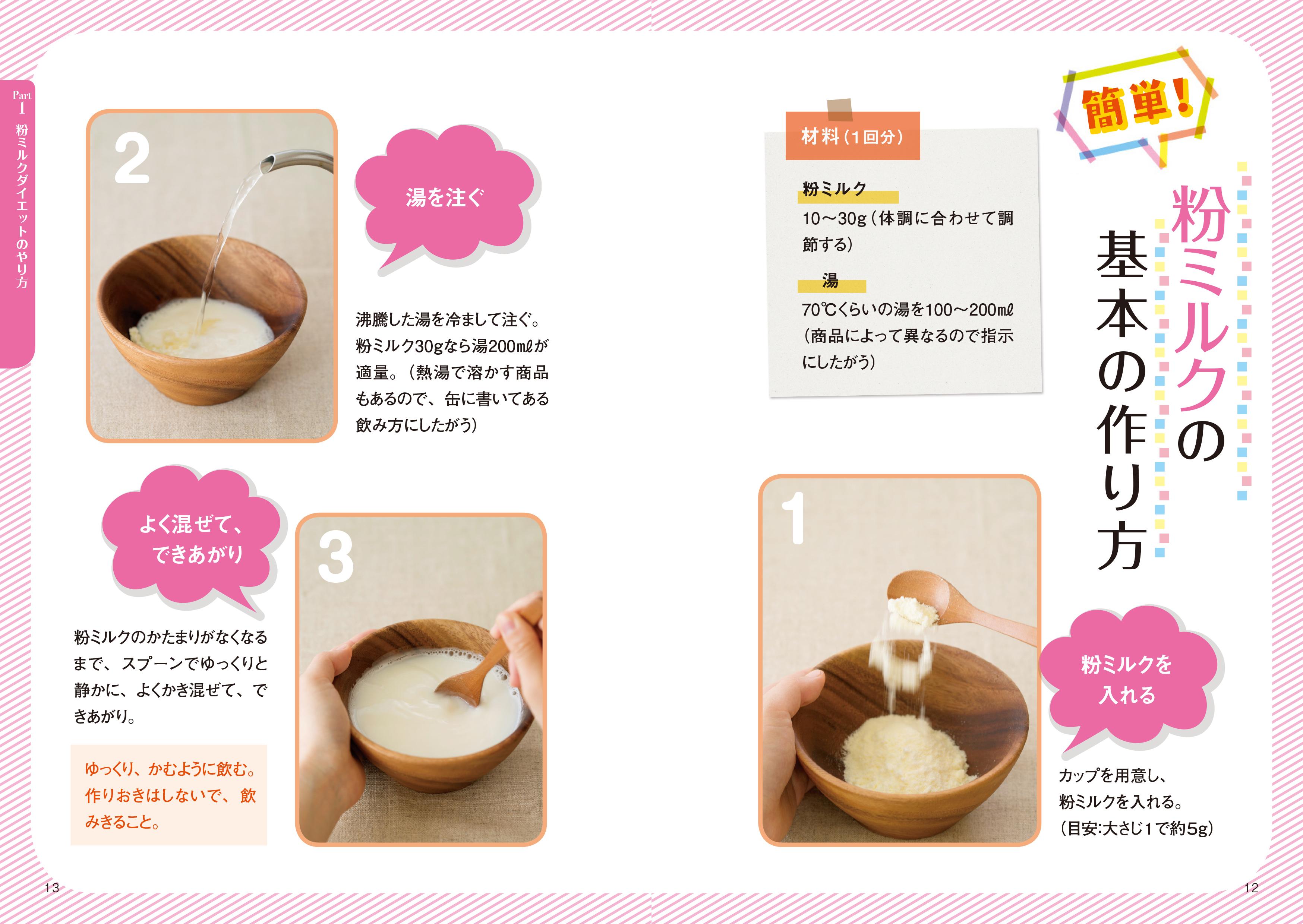 画像は、粉ミルクの基本の作り方のページ