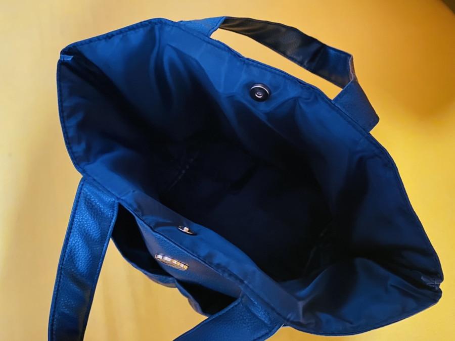 写真は、付録のトートバッグ。マチが広くて便利