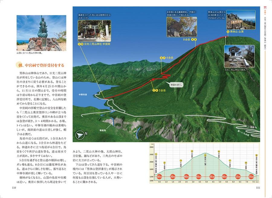 写真は日光二荒山神社中宮祠(男体山)の登山ルート(提供:昭文社)