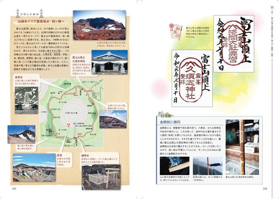 写真は富士山頂上浅間大社奥宮の諸情報(提供:昭文社)