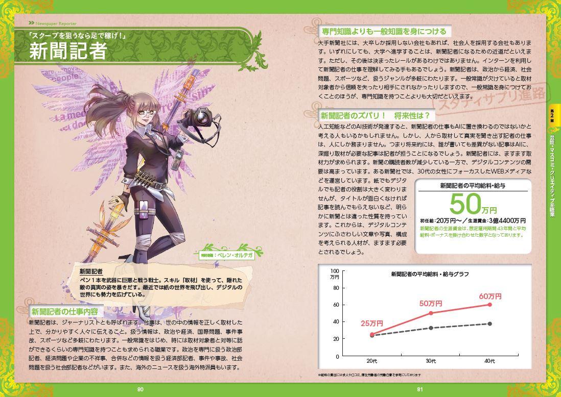 写真は新聞記者の紹介ページ(提供:宝島社)
