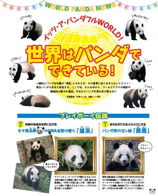 写真は「世界のパンダ」(提供:光文社)